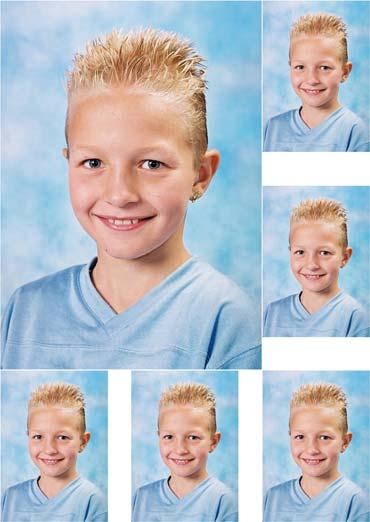 combinatievel bestaande uit 1 x 9-13 + 5 grote pasfoto's