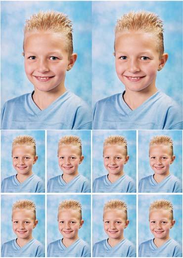 combinatievel bestaande uit 2 x 6/9 cm + 8 pasfoto's